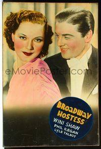 4r057 BROADWAY HOSTESS Meloy Bros. 40x60 '35 close up of Phil Regan smiling at pretty Wini Shaw!