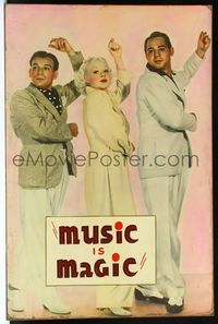 4r058 MUSIC IS MAGIC Meloy Bros. 40x60 '35 full-length sexy Alice Faye dancing with comic brothers!