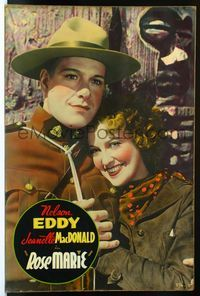 4r060 ROSE MARIE Meloy Bros. 40x60 '36 best c/u of pretty Jeanette MacDonald & Mounty Nelson Eddy!