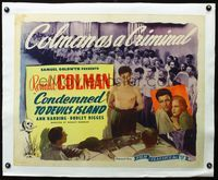 4r028 CONDEMNED linen 1/2sh R46 barechested criminal Ronald Colman & with pretty Ann Harding!