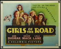 4r030 GIRLS OF THE ROAD 1/2sh '40 Ann Doran, Lola Lane, and other girls of the hobo jungles!