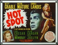 4r032 I WAKE UP SCREAMING style B 1/2sh '41 sexy Betty Grable, Victor Mature, Carole Landis,Hot Spot