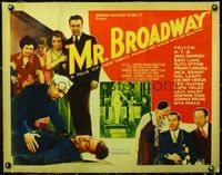 4r035 MR. BROADWAY linen 1/2sh '33 a tour of New York's famous hot spots with Ed Sullivan!