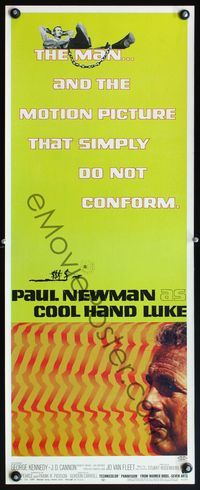 4r015 COOL HAND LUKE insert '67 Paul Newman prison escape classic, cool art by James Bama!