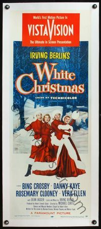 4r014 WHITE CHRISTMAS linen insert '54 Bing Crosby, Danny Kaye, Clooney, Vera-Ellen, musical classic