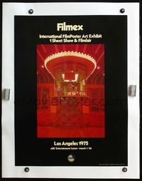 4r050 FILMEX '75 linen special 19x25 '75 great image of bored cashier in deco ticket booth!