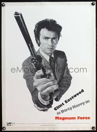 4r047 MAGNUM FORCE linen special 20x28poster '73 Clint Eastwood as Dirty Harry pointing his big gun!