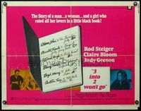 4v503 3 INTO 2 WON'T GO 1/2sh '69 Rod Steiger, sexy Claire Bloom and her little black book!
