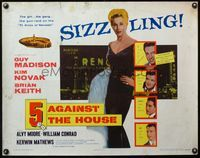 4v504 5 AGAINST THE HOUSE 1/2sh '55 great art of super sexy Kim Novak gambling in Reno Nevada!