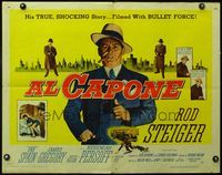 4v510 AL CAPONE style A 1/2sh '59 cool comparison of Rod Steiger to the most notorious gangster!