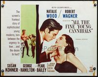 4v513 ALL THE FINE YOUNG CANNIBALS style A 1/2sh '60 sexy Natalie Wood about to kiss Robert Wagner!
