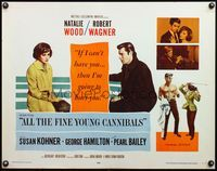 4v514 ALL THE FINE YOUNG CANNIBALS style B 1/2sh '60 Natalie Wood whipping Robert Wagner!