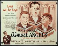 4v517 ALMOST ANGELS 1/2sh '62 Disney, boys will be boys, they're only angels when they're singing!