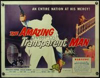 4v518 AMAZING TRANSPARENT MAN 1/2sh '59 Edgar Ulmer, cool fx art of the invisible & deadly convict!
