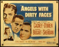 4v522 ANGELS WITH DIRTY FACES 1/2sh R48 James Cagney, Humphrey Bogart, O'Brien & Dead End Kids!