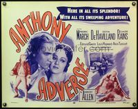 4v524 ANTHONY ADVERSE 1/2sh R56 close-up image of Fredric March & Olivia de Havilland!
