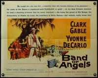 4v538 BAND OF ANGELS 1/2sh '57 Clark Gable buys beautiful slave mistress Yvonne De Carlo!
