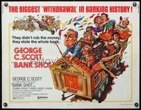 4v540 BANK SHOT 1/2sh '74 wacky art of George C. Scott taking the whole bank by Jack Davis!