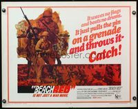 4v545 BEACH RED 1/2sh '67 Cornel Wilde, Rip Torn, cool art of World War II soldiers!