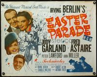 4v636 EASTER PARADE 1/2sh R55 Judy Garland & Fred Astaire, art by Al Hirschfeld, Irving Berlin
