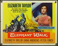 4v637 ELEPHANT WALK 1/2sh R60 close-up of sexy Elizabeth Taylor in India, wild art!