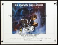 4v639 EMPIRE STRIKES BACK 1/2sh '80 George Lucas, cool Gone with the Wind style art by Roger Kastel
