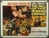 4v645 FALL OF THE ROMAN EMPIRE 1/2sh '64 Anthony Mann, Sophia Loren, cool gladiator artwork!