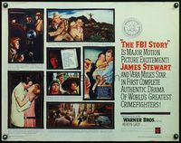 4v648 FBI STORY 1/2sh '59 different images of detective Jimmy Stewart & Vera Miles!