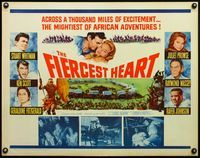 4v649 FIERCEST HEART 1/2sh '61 sexy Juliet Prowse from Stuart Cloete's best-selling book!