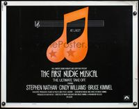 4v654 FIRST NUDIE MUSICAL style B 1/2sh '76 unusual sexy music note artwork!