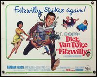 4v655 FITZWILLY 1/2sh '68 great comic art of Dick Van Dyke & Barbara Feldon!