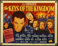 4v740 KEYS OF THE KINGDOM 1/2sh R54 religious Gregory Peck, Vincent Price, Thomas Mitchell!