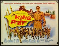 4v742 KING RAT 1/2sh '65 art of George Segal, WWII POWs, they made the toughest among them king!