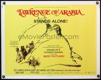 4v757 LAWRENCE OF ARABIA 1/2sh R71 David Lean classic starring Peter O'Toole, it stands alone!