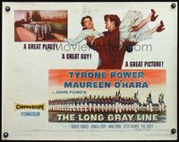 4v763 LONG GRAY LINE style A 1/2sh '54 Tyrone Power carrying Maureen O'Hara, West Point cadets!