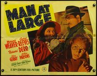 4v769 MAN AT LARGE 1/2sh '41 great close up of George Reeves covering Marjorie Weaver's mouth!