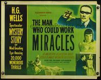 4v772 MAN WHO COULD WORK MIRACLES 1/2sh R47 H.G. Wells, a modern Aladdin who made women do things!
