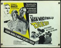 4v773 MAN WHO FINALLY DIED 1/2sh R67 Peter Cushing & Stanley Baker in the mystery of the century!