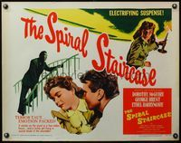 4v886 SPIRAL STAIRCASE 1/2sh R56 different art of Dorothy McGuire & with George Brent !