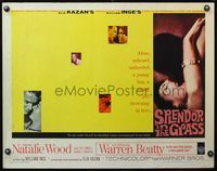 4v887 SPLENDOR IN THE GRASS 1/2sh '61 Natalie Wood kissing Warren Beatty, Elia Kazan, different!