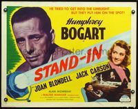 4v889 STAND-IN 1/2sh R48 Leslie Howard, Joan Blondell, super close up of Humphrey Bogart!