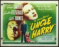 4v891 STRANGE AFFAIR OF UNCLE HARRY 1/2sh '45 George Sanders, sexy Geraldine Fitzgerald & Raines!