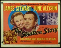 4v892 STRATTON STORY style B 1/2sh '49 James Stewart in baseball uniform and with June Allyson!