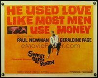 4v899 SWEET BIRD OF YOUTH 1/2sh '62 Paul Newman, Geraldine Page, from Tennessee Williams' play!