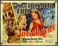 4v900 SWEETHEARTS 1/2sh R62 close up art of pretty Jeanette MacDonald & Nelson Eddy!