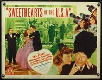 4v901 SWEETHEARTS OF THE U.S.A. 1/2sh '44 many images of elegant Una Merkel & Parkyakarkus!