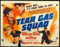 4v908 TEAR GAS SQUAD style B 1/2sh '40 Dennis Morgan & John Payne are the bravest cops on Earth!