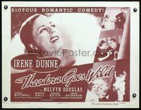 4v914 THEODORA GOES WILD 1/2sh R50 portrait of pretty Irene Dunne in the gayest entertainment!