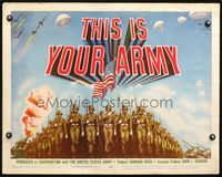 4v919 THIS IS YOUR ARMY 1/2sh '54 patriotic military image of soldiers marching in formation!