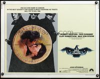 4v920 THREE DAYS OF THE CONDOR 1/2sh '75 secret agent Robert Redford & Faye Dunaway!